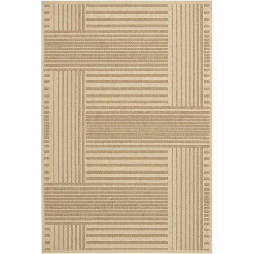 Ryan Brown Geometric Indoor/Outdoor Rug