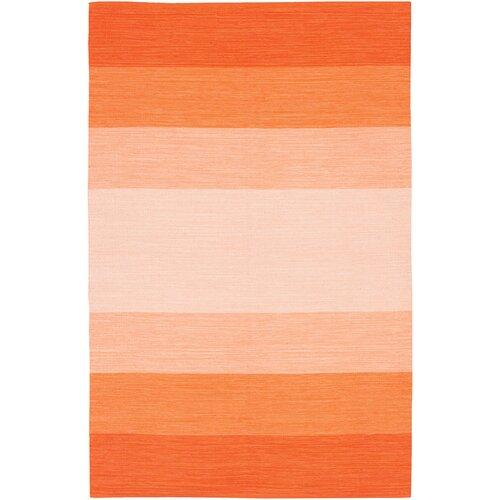 Chandra Rugs India Orange Striped Rug