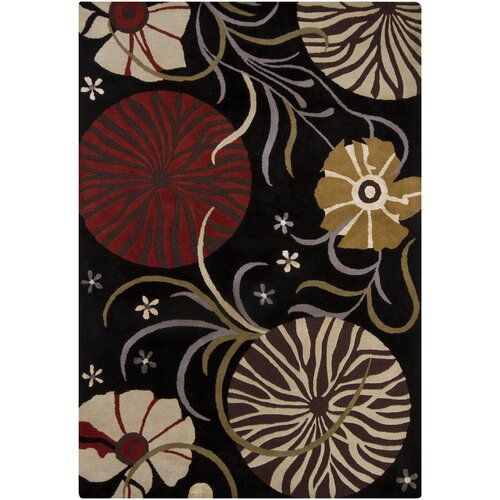 Chandra Rugs Bajrang Black Rug