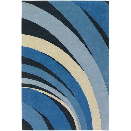 Contemporary Designer Blue Rug