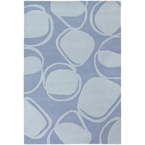 Chandra Rugs Inhabit Designer Light Blue Rug