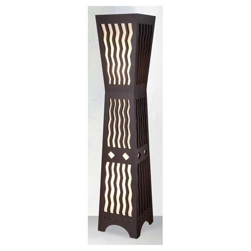 Hermosa Morocco Dark Timber Floor Lamp