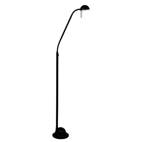 Oriel Lighting Tema Halogen Floor Lamp in Black