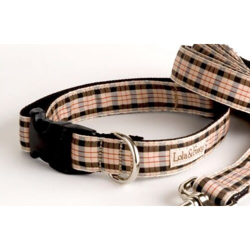 Lola and Foxy English Plaid Dog Collar