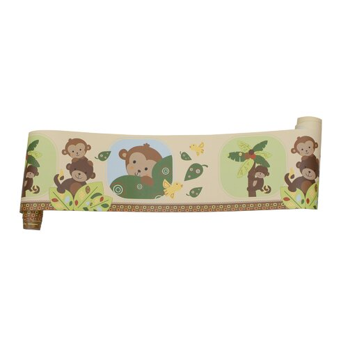 Bedtime Originals Curly Tails Wallpaper Border