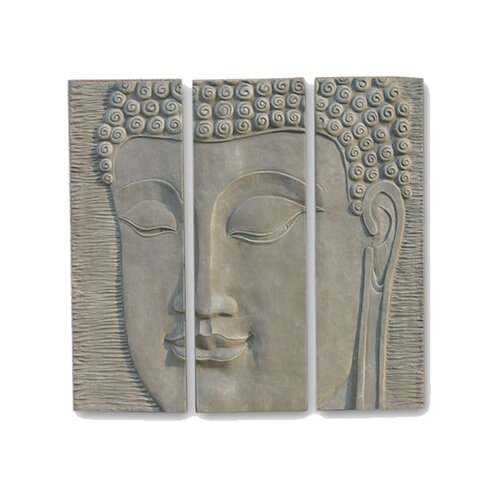 EwaterFeatures Décor Buddha Wall Plaque Statue