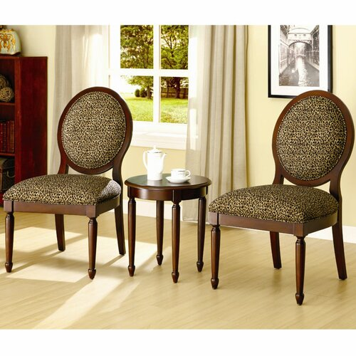 Hokku Designs Titusville 3 Piece Cotton Slipper Chair and Side Table Set