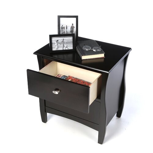 Hokku Designs Milano 2 Drawer Nightstand