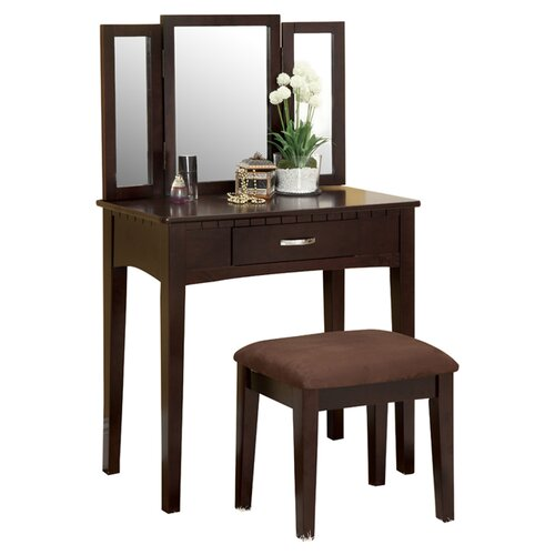 Glam Bedroom Design Photo By Wayfair: Style Craft Hollywood Glamour Bedroom Vanity With Mirror