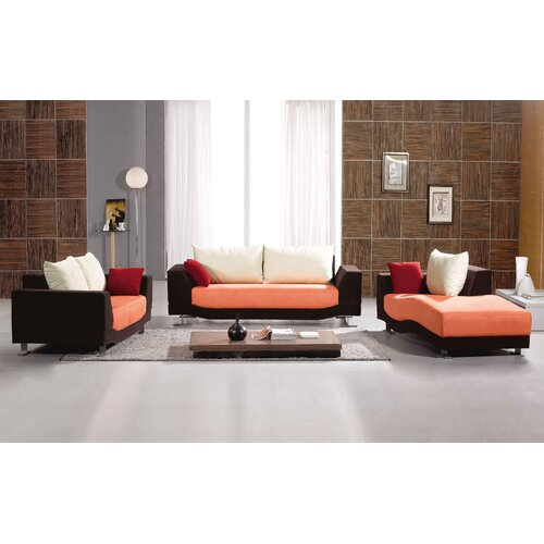 Hokku Designs Morganite 3 Piece Sofa Set