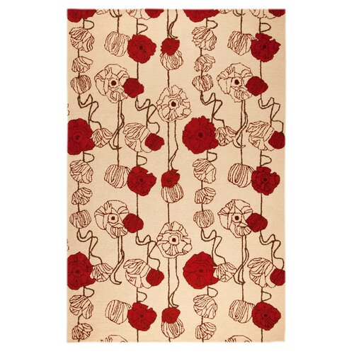 Hokku Designs Vine Sand/Red Rug