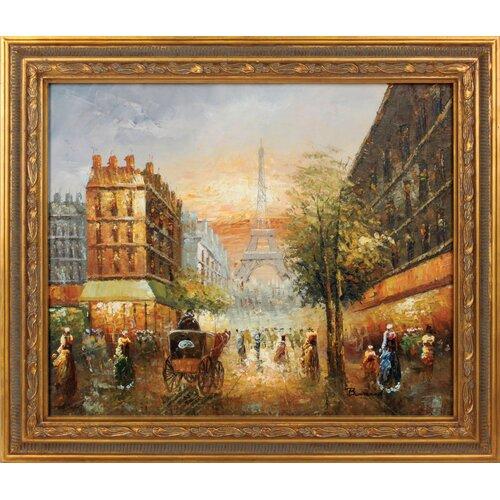 Hokku Designs Paris Sunset Framed Original Painting