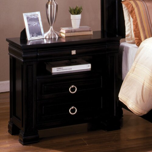 Hokku Designs Vanguard 3 Drawer Nightstand
