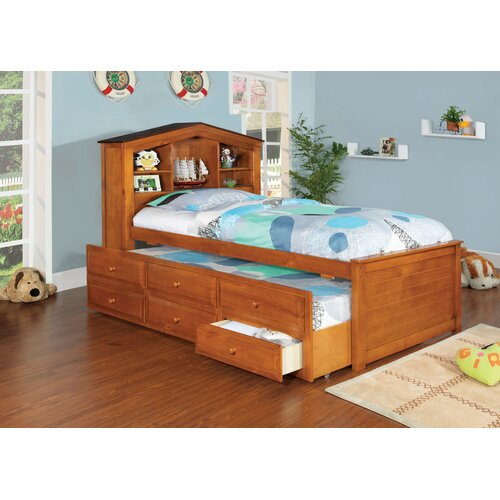 Princeston Platform Captain Twin Bed with Trundle