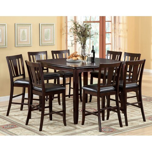 7 Piece Counter Height Dining Room Sets: Hokku Designs Nappa 7 Piece Counter Height Dining Set