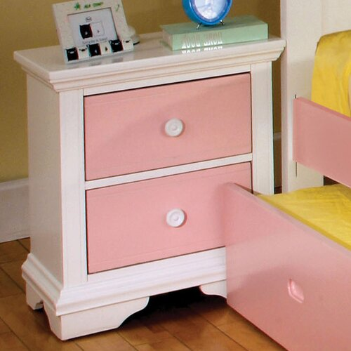 Hokku Designs Aila 2 Drawer Nightstand