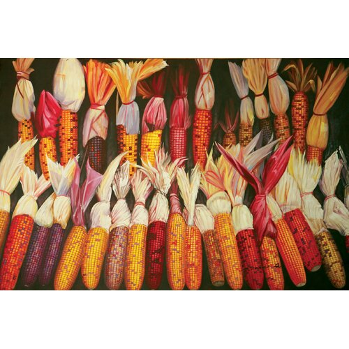 Hokku Designs Cornfield Painting Print on Canvas