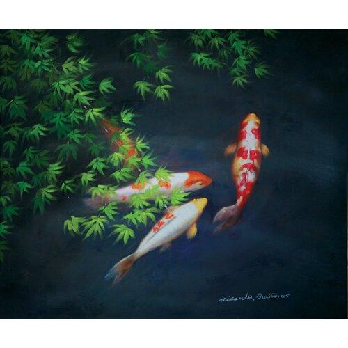 Hokku Designs Zen Painting Print on Canvas