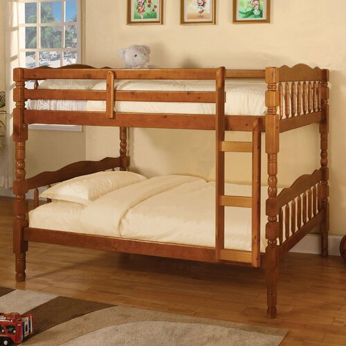 Baltimore Twin over Twin Bunk Bed with Built-In Ladder