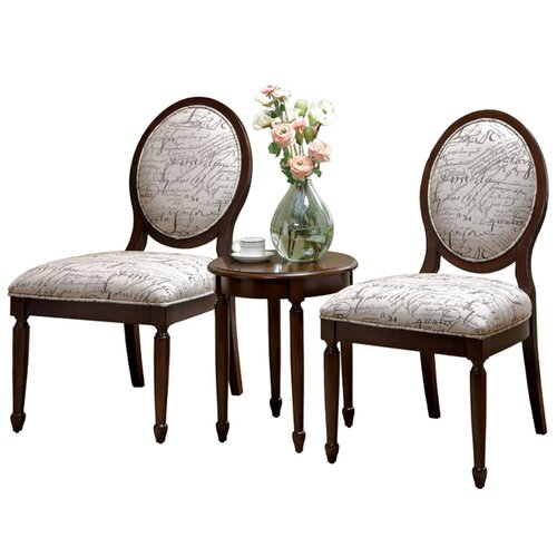 Quincy 3 Piece Cotton Slipper Chair and Table Set