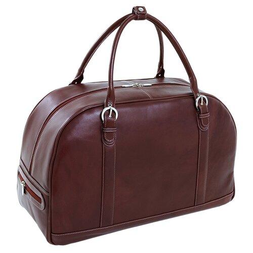 "Siamod Vernazza Stalla 21"" Leather Travel Duffel"