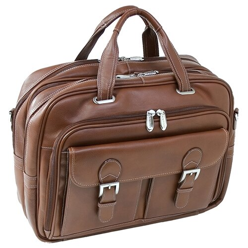 Vernazza Guidoni Laptop Leather Briefcase