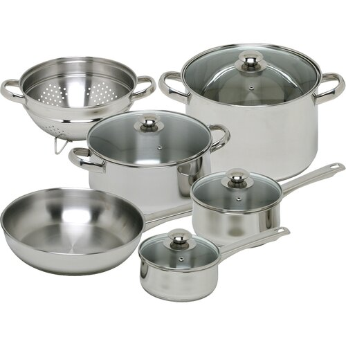 Magefesa Vesta Stainless Steel 10-Piece Cookware Set