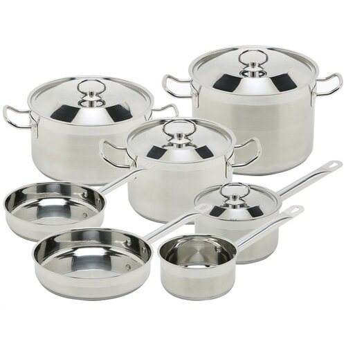Sibaris Stainless Steel 11-Piece Cookware Set