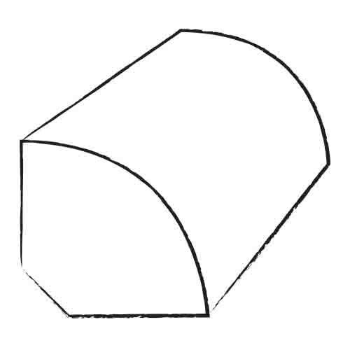 """Shaw Floors 0.75"""" x 0.63"""" Laminate Quarter Round in Figured Maple"""