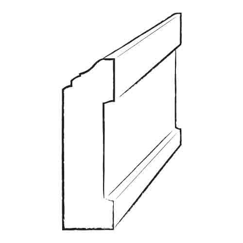 """Shaw Floors 0.56"""" x 3.25"""" Laminate Wall Base in Philadelphia Oak"""