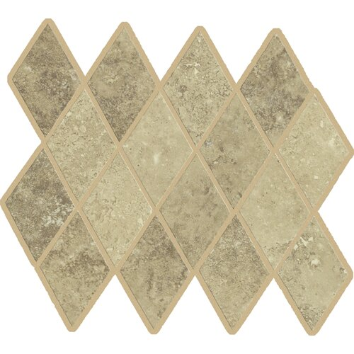 Lunar Rhomboid Mosaic Tile Accent in Beige