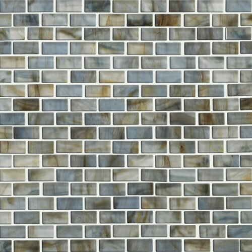 Glass Expressions Frosted Micro Blocks Accent Tile in Seaglass