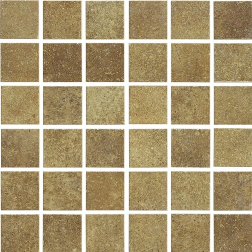 Brushstone Mosaic Tile Accent in Adobe