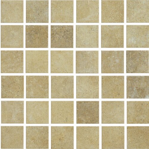 Brushstone Mosaic Tile Accent in Camel