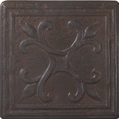 "Shaw Floors Heritage Sagebrush Deco 4"" x 4"" Tile Accent in Rust"