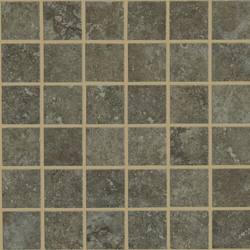Lunar Mosaic Tile Accent in Noce