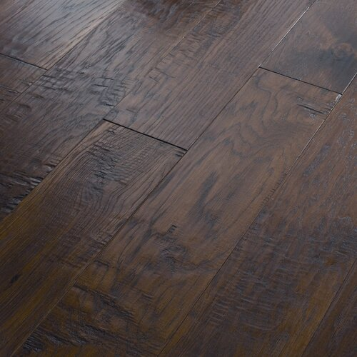 "Shaw Floors Panorama 6-3/8"" Engineered Handscraped Hickory Flooring in ..."