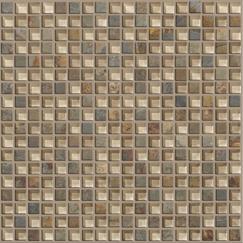 Mixed Up Mosaic Slate Accent Tile in Denali