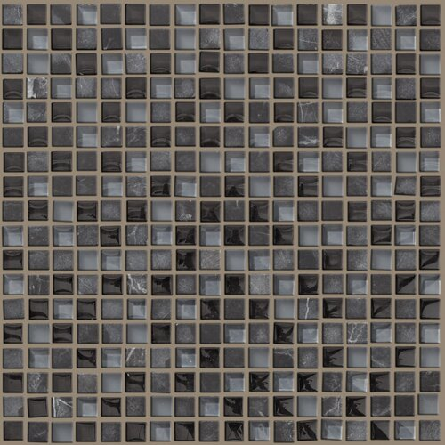 Shaw Floors Mixed Up Mosaic Stone Accent Tile in Black Hills