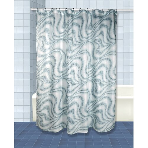 Tidal Shower Curtain and Valance Set