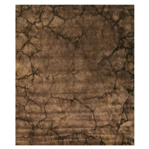 Brown Stone Dip Dyed Rug