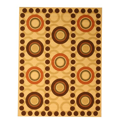 Euro Home Beige Abstract Rug