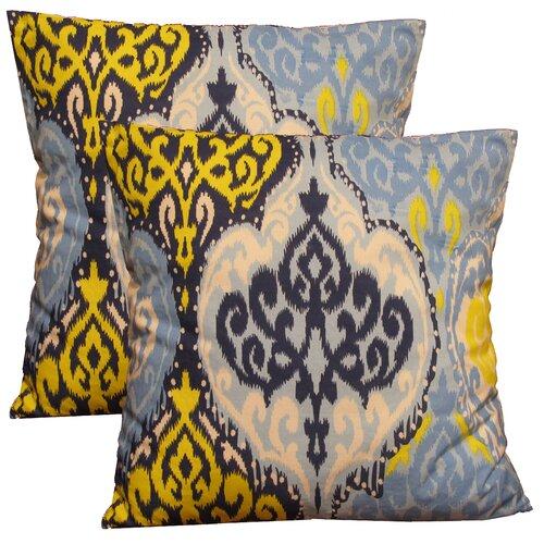 Ikat Decorative Cotton Pillow (Set of 2)