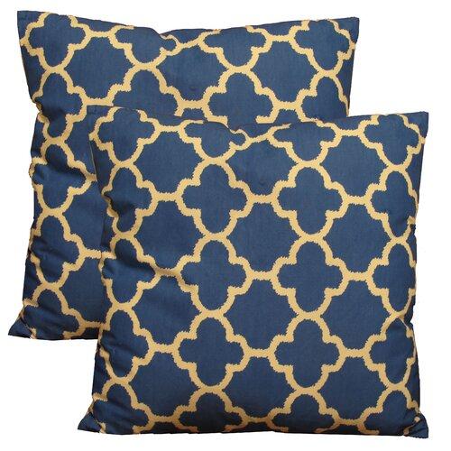 Trellis Decorative Cotton Pillow (Set of 2)
