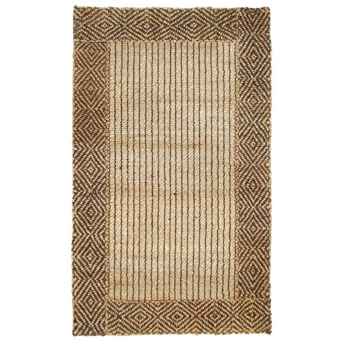Kosas Home Cabana Braided Border Brown Rug