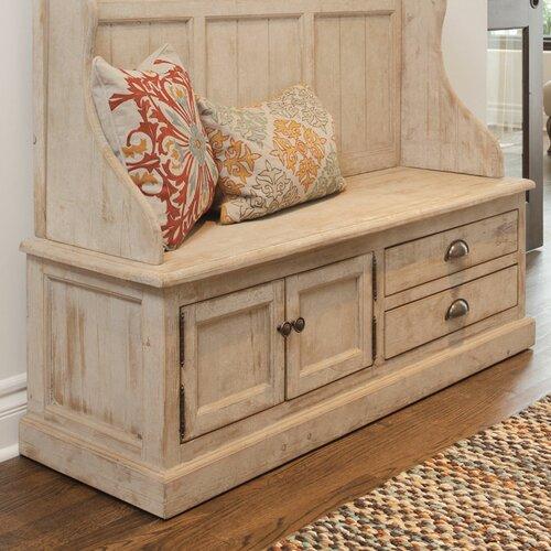 Kosas Home Elodie Pine Storage Entryway Bench Reviews Wayfair