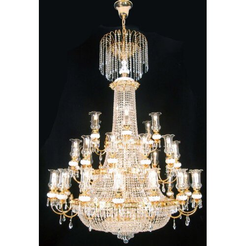 French Empire 56 Light Crystal Chandelier