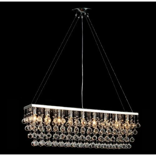 Rain Drop 9 Light Crystal Chandelier