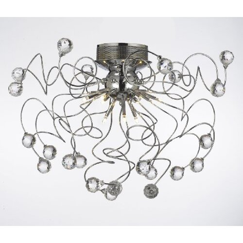 Modern 9 Light Crystal Chandelier