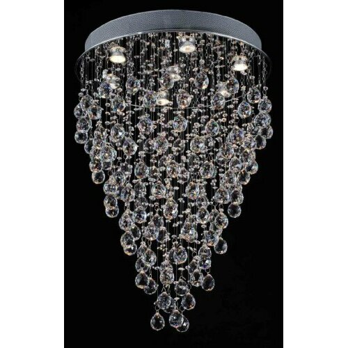 Rain Drop 7 Light Crystal Chandelier